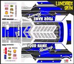 Personalised Race Retro Pace Car themed vinyl SKIN Kit To Fit Tamiya Lunchbox R/C Monster Truck